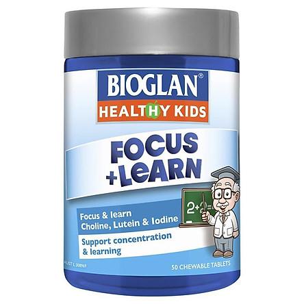 Bioglan Kids Focus & Learn 50 Chewable Tablets