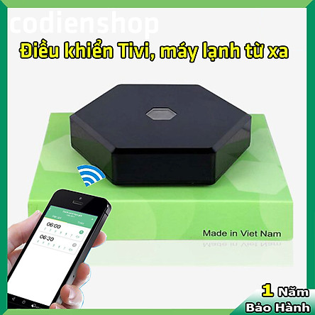 Bộ điều khiển Tivi, Máy lạnh [từ xa bằng điện thoại] Hunonic IR Smart   Điều khiển Tất cả các thiết bị Hồng ngoại từ xa