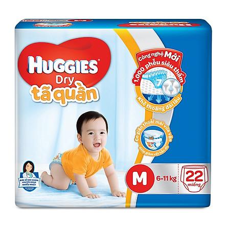 Tã quần Huggies Dry  M22 (22 miếng cho bé 6-11kg)