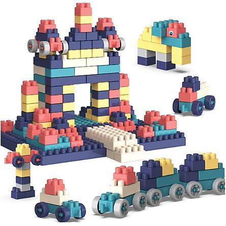 [Có Video] Đồ chơi Lego, Đồ Chơi Lắp Ghép 220 Chi Tiết Bằng Nhựa có Hộp Đựng Gọn