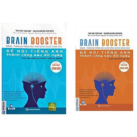 Combo 2 cuốn Brain Booster - Nghe Phản Xạ Tiếng Anh Bằng Công Nghệ Sóng Não(Tặng kèm bút chì Kingbooks)