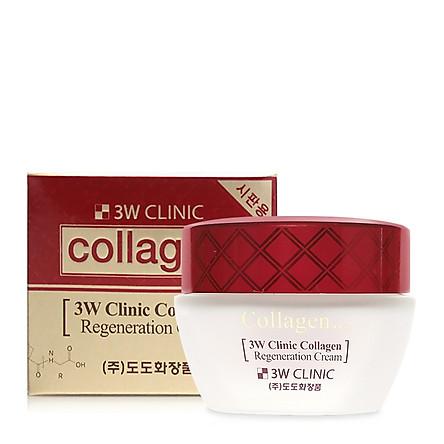 Kem dưỡng trắng da chống lão hóa 3W Clinic Collagen Regeneration Cream 60ml - Hàn Quốc Chính Hãng