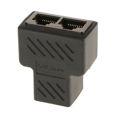 1 to 2 Port RJ45 LAN Ethernet Network Connector Splitter Adapter Plug
