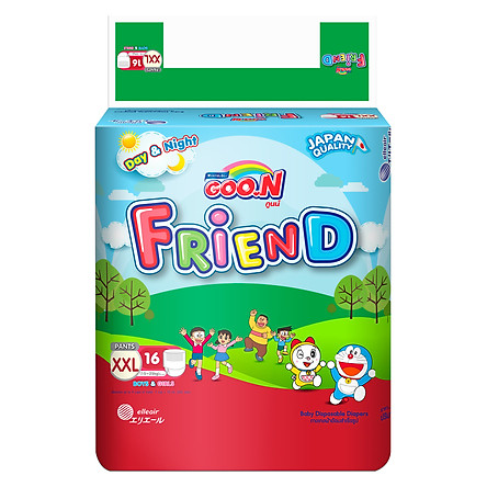 Tã Quần Goo.n Friend Gói Đại XXL16 (16 Miếng)