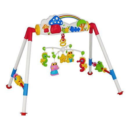 Đồ chơi trẻ sơ sinh Kệ chữ A Nhựa Chợ Lớn K5 (Có Nhạc) - M1784-BB90-2I