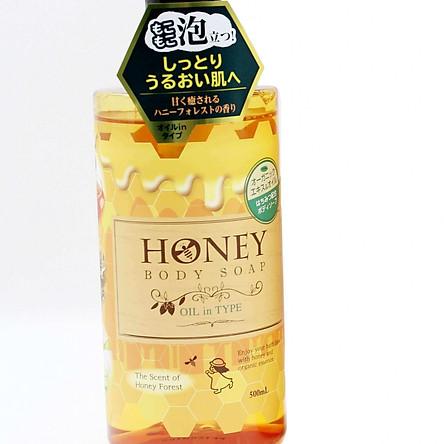Sữa Tắm Sạch Da Dưỡng Ẩm Không Nhờn Dính Nhật Bản( HONEY BODY SOAP OIL IN TYPE ) 500ML