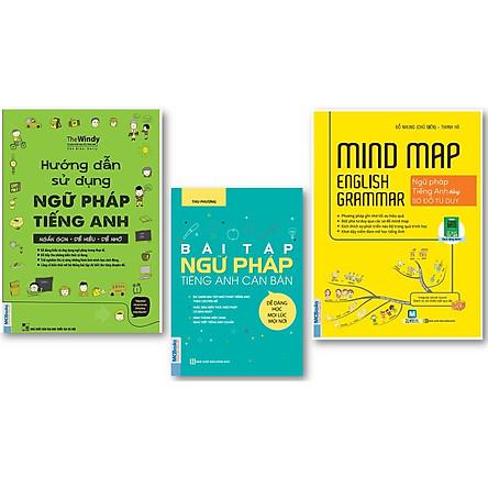Combo Hướng Dẫn Sử Dụng Ngữ Pháp Tiếng Anh + Bài tập ngữ pháp tiếng Anh căn bản + Mind Map English Grammar – Ngữ pháp tiếng anh bằng sơ đồ tư duy ( tặng kèm IRing siêu dễ thương )