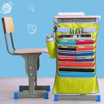 Túi oxford 14 ngăn thông minh treo bàntiết kiện diện tích đựng tài liệu,sách vở, đồ dùng học tập kèm giỏ đựng đồ uống s