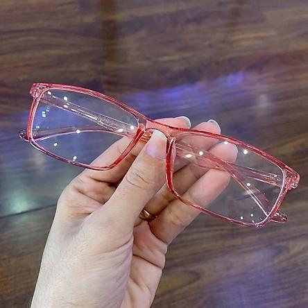 Gọng kính cận mắt vuông , gọng mảnh siêu nhẹ. nhựa dẻo vừa ( hơi cứng ) siêu nhẹ, mảnh đeo hợp thời trang