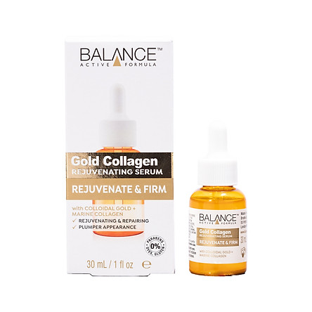 Serum Gold Collagen Balance Active Formula Căng Bóng Làn Da, Chống Lão Hóa, làm sáng da 30ml, hàng chính hãng