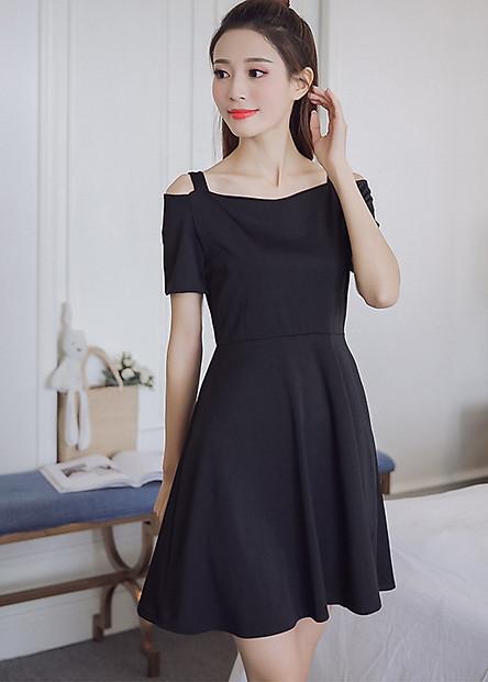 Đầm nữ 2 dây, đầm trễ vai Da45