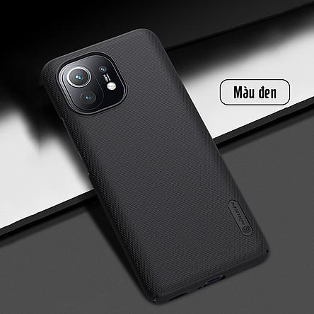 Ốp lưng cho Xiaomi Mi 11 Frosted Shield nhựa PC cứng Nillkin , Vân nhám , chống vân tay - Hàng nhập khẩu