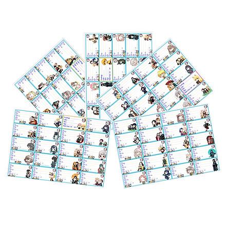 Nhãn vở set 100 nhãn vở Kimetsu no Yaiba hình chibi