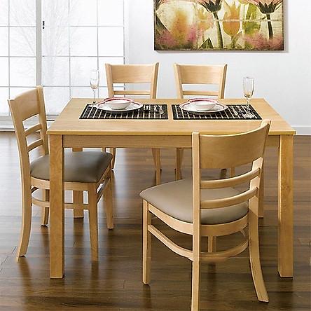 Bộ bàn ăn 4 ghế OH (tự nhiên) TH06