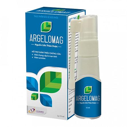 Thực phẩm chức năng xịt họng thảo dược Argelomag - Hết viêm, sưng, đau họng