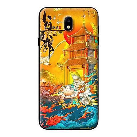 Ốp in cho Samsung Galaxy J7 Pro Hạc Nền Vàng - Hàng chính hãng