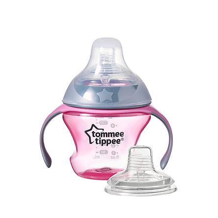 Bình tập uống chuyển tiếp 2in1 Tommee Tippee 150ml từ 4-7 tháng - Transition Hồng