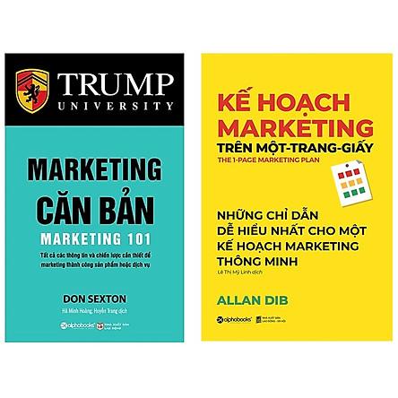 Combo Sách Marketing - Bán Hàng :  Marketing Căn Bản + Kế Hoạch Marketing Trên Một Trang Giấy