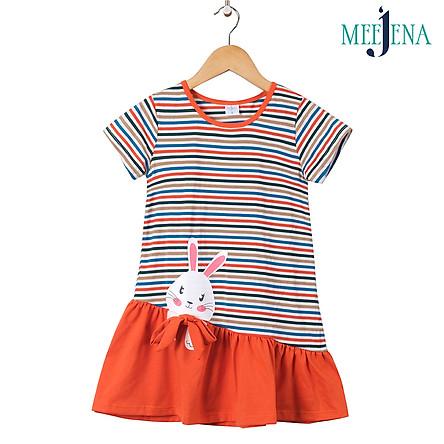 Đầm Bé Gái Tay Ngắn Vải Sọc 14-34 kg MEEJENA - 100% Cotton - 1906