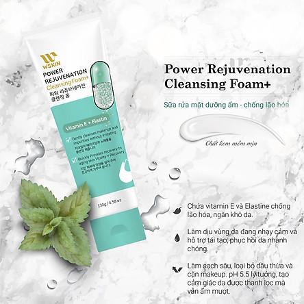 Sữa Rửa Mặt Trắng Da Chống Lão Hóa Wskin Power Rejuvenation Cleansing Foam Vitamin E + Elastin