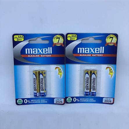 Combo 2 vĩ pin chính hãng Maxell Nhật Bản dòng Alkaline cao cấp AAA