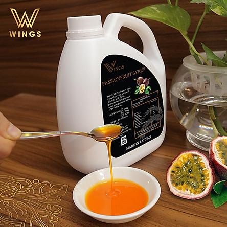 Si rô hương vị chanh leo Wings dùng pha chế Coffee, Iced tea, Milkshakes, Cocktails, Soda ... trọng lượng 2,5 kg