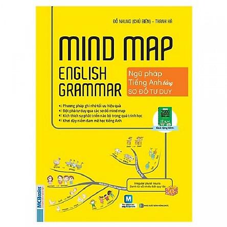 Mindmap English Grammar - Ngữ Pháp Tiếng Anh Bằng Sơ Đồ Tư Duy ( Tặng kèm bookmark TH )