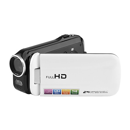 1080P Full HD Mini Digital Video Camera DV Camcorder 24MP 3 Inch Rotatable LCD Touchscreen 18X Zoom Built-in LED Fill-in
