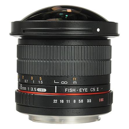 Ống Kính Samyang Fisheye 8mm F/3.5 For Canon - Hàng Chính Hãng