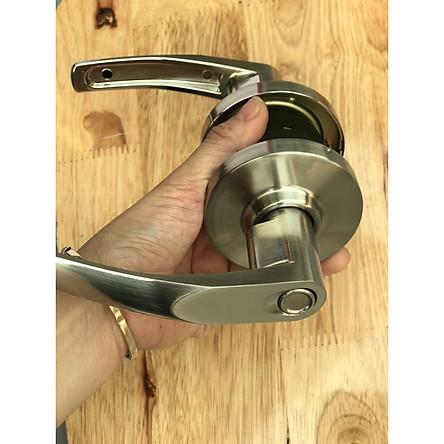 Khóa tròn tay gạt inox 304 nhập khẩu Hàn Quốc cho cửa nhà vệ sinh tặng kèm tovit sửa chữa