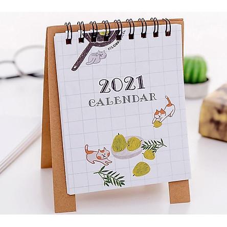 Lịch Để Bàn 2021 Nhỏ Xinh