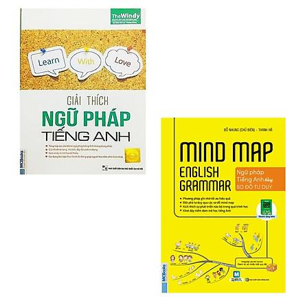 COMBO 2 quyển sách Giải thích ngữ pháp tiếng anh - Mindmap English Grammar Ngữ pháp tiếng Anh bằng sơ đồ tư duy