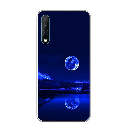 Ốp lưng điện thoại Vsmart Live - 0269 MOON02 - Silicon dẻo - Hàng Chính Hãng