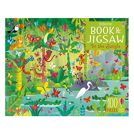 Usborne Picture Puzzle Book and Jigsaw In the Jungle