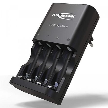 Bộ sạc Pin ANSMANN POWERLINE 4 Smart - Hàng Nhập Khẩu
