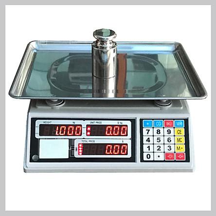 Cân điện tử tính giá  UPA-Q, 30kg - 10g, màn hình hiển thị 2 mặt trước và sau, đĩa cân dạng khay trũng