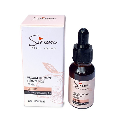 Serum dưỡng môi Sirum 15ml dưỡng ẩm môi trong 5 giây giúp môi hồng hào, giảm thâm môi, cho lớp son đẹp