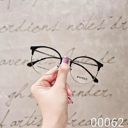 Gọng kính cận nam nữ , thiết kế mắt tròn phù hợp với nhiều khuôn mặt, đa dạng màu sắc - 00062
