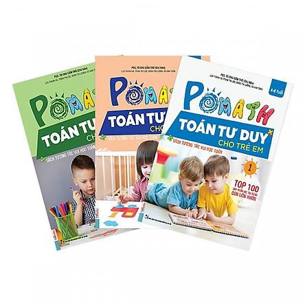 Combo 3 Cuốn Sách POMath Toán tư duy Cho Trẻ Em 4 - 6 tuổi (Tập 1, 2, 3) (Học Kèm App MCBooks Application) (Quét Mã QR Để Nhận Quà) Tặng Bút Hoạt Hình Kute) (Tặng Thêm Thước Đo Chiều Cao Cho Bé)