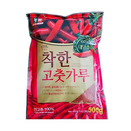 500G Ớt Bột Vảy Làm Kim Chi Hàn Quốc CHACKHAN - Thương Hiệu Hàn Quốc NONG WOO