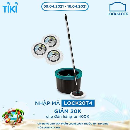Bộ Cây Lau Nhà Lock&Lock BLU-GRY-VN-MOP HPP345S2