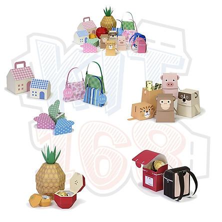 Mô hình giấy đồ vật hộp quà Gift box