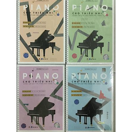 Combo 4 cuốn Piano Cho Thiếu Nhi - Tuyển Tập 220 Tiểu Phẩm Nổi Tiếng