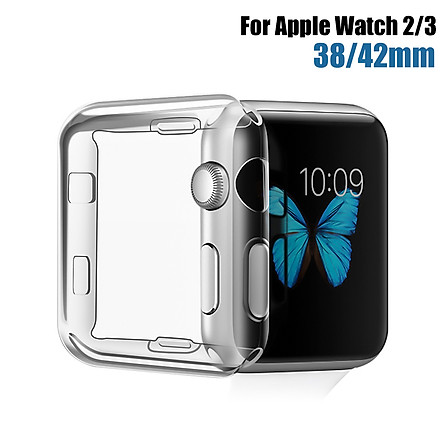 38mm Clear Thin Hard Front Case Cover Screen Protector For Apple Watch 2/3