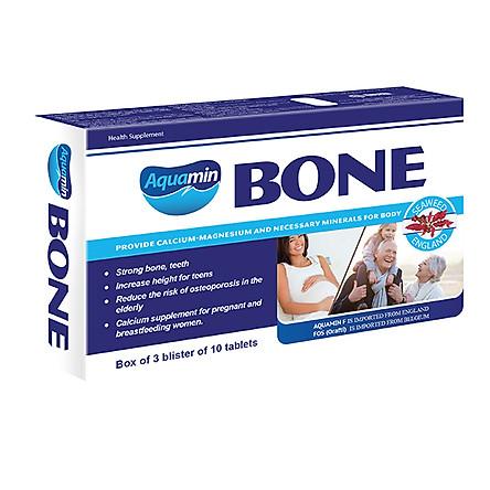 Aquamin Bone - Canxi hữu cơ chiết xuất từ tảo biển đỏ Anh Quốc đạt chuẩn Organic giúp trẻ tăng trưởng chiều cao