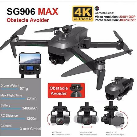 Flycam SG906 Max Gimbal chống rung EIS 3 trục, Tránh chướng ngại vật động cơ không chổi than - Hàng chính hãng