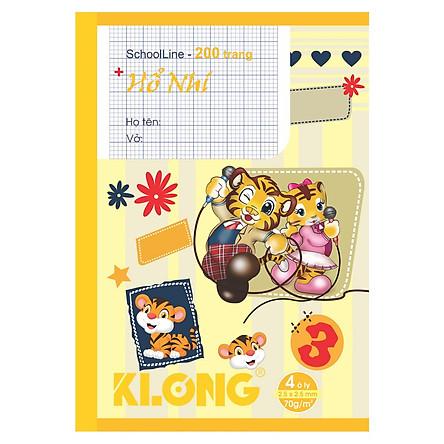 Lốc 5 quyển vở 4 ô ly Klong 200tr MS 043 (ngẫu nhiên)