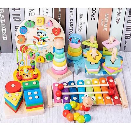 Đồ chơi gỗ an toàn cho bé 7 món
