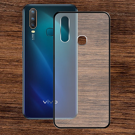 Ốp lưng Vivo U10 - Bề mặt nhám chống vân tay, lưng cứng, viền TPU dẻo - 02139 - Hàng Chính Hãng