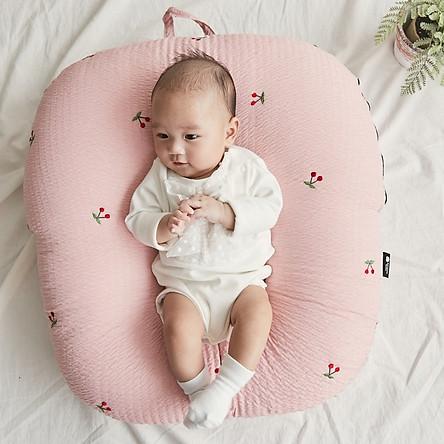 Gối chống trào ngược cho bé Rototo Bebe cao cấp nhập khẩu Hàn Quốc khắc phục tình trạng trào ngược dạ dày trẻ sơ sinh hiệu quả - Loại Ripple nhăn thoáng mát, không bám dính